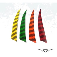 "Black Eagle 4"" Shield Cut Feathers 36PK"