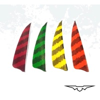 "Black Eagle 3"" Shield Cut Feather 36PK"