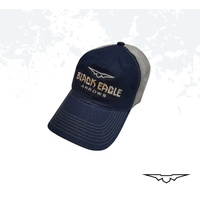 Black Eagle Blue Mesh Shooters Hat