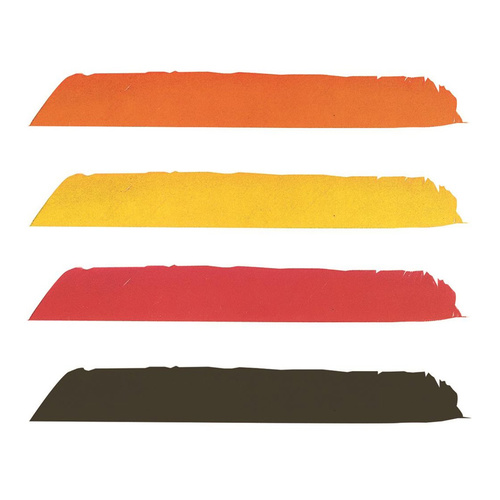 Dyed Full Length Feathers [Colour: Orange]